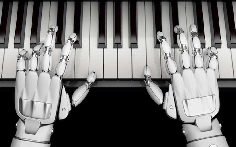 IA Intelligence Artificielle musique piano