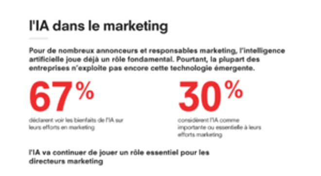 IA intelligence artificielle marketing infographie